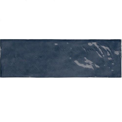 Faience nuancée effet zellige bleu roi 6.5x20 RIVIERA BLUE REEF 25848- 0.5 m² - zoom