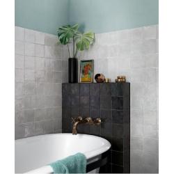 Faience nuancée effet zellige gris 13x13 RIVIERA GRIS NUAGE 25852-0.5 m² Equipe