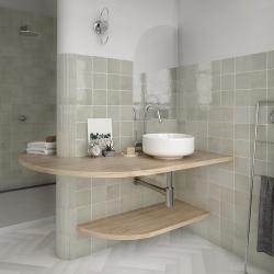 Faience nuancée effet zellige vert d'eau 13.2x13.2 RIVIERA VERT 25855-1 m² Equipe