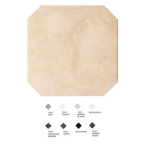 Carrelage octogonal marbré à cabochons 20x20 OCTAGON MARMOL BEIGE 21009 - 1m² Equipe