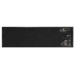 Carrelage uni brillant noir anthracite 6.5x20cm COUNTRY ANTHRACITE 21535 – 0.5m² Equipe