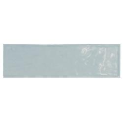 Carrelage uni brillant bleu 6.5x20cm COUNTRY ASH BLUE - 21541 – 0.5m² Equipe