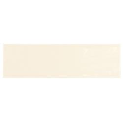 Carrelage uni brillant ivoire 6.5x20cm COUNTRY IVORY – 0.5m² Equipe