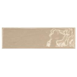 Carrelage uni brillant beige 6.5x20cm COUNTRY VISON – 0.5m² Equipe