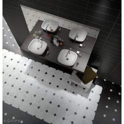 Carrelage octogonal marbré à cabochons 20x20 OCTAGON MARMOL BLANC 21010 - 1m² Equipe