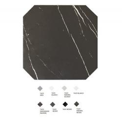 Carrelage octogonal marbré à cabochons 20x20 OCTAGON MARMOL NEGRO 21011 - 1m² Equipe