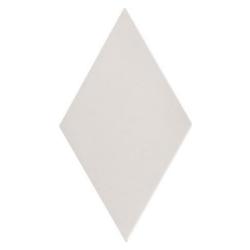 Carrelage losange diamant 14x24cm blanc cassé lisse ref. 22688 RHOMBUS MAT - 1m²