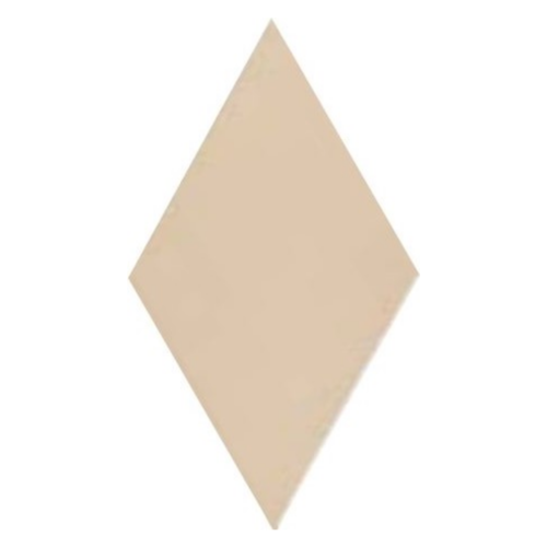 Carrelage losange diamant 14x24cm crème lisse ref. 22689 RHOMBUS MAT - 1m² Equipe