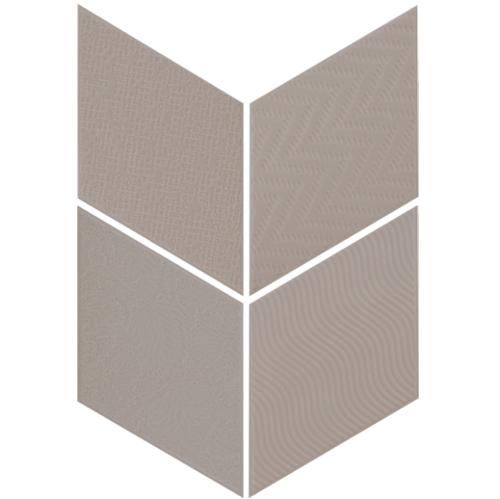 Carrelage losange diamant 14x24cm gris foncé relief ref. 21293 RHOMBUS MAT - 1m² - zoom