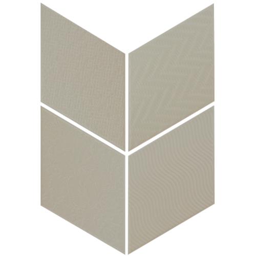 Carrelage losange diamant 14x24cm vert relief ref. 21311 RHOMBUS MAT - 1m² Equipe