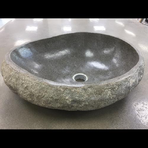 Vasque bol à poser en pierre naturelle de BALI ASDC