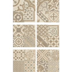 Carrelage Beige imitation décor carreau ciment 45x45 cm RIVIERA BONE - 1.4m² Baldocer
