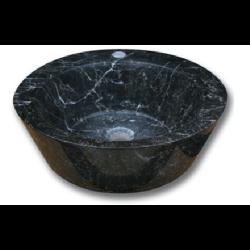 Vasque Abi marbre noir poli 42x15 cm