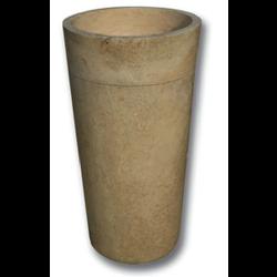Vasque Colonne conique lisse travertin beige diam 42 hauteur 90 cm