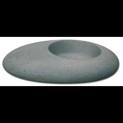 Vasque grise forme galet basalt