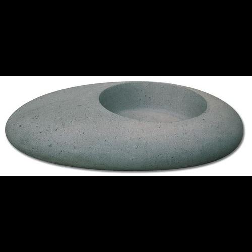Vasque grise forme galet basalt SF
