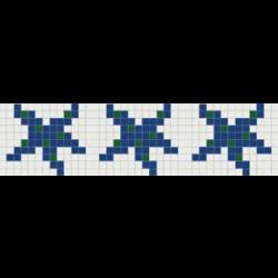 Frise piscine étoile 33.3x25.6 cm - unité