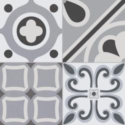 Carrelage style ciment grisé LUMIER BLACK 33x33 cm - 1.32m²