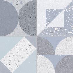 Carrelage style ciment terrazzo FUSION BLUE 33x33 cm - 1.32m²