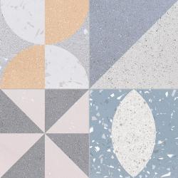 Carrelage style ciment terrazzo FUSION MIX 33x33 cm - 1.32m²