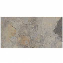 Carrelage effet pierre gris nuancé ARDESIA GRIS 32x62.5 cm - 1m² GayaFores