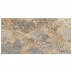 Carrelage effet pierre beige marron nuancé ARDESIA OCRE 32x62.5 cm - 1m² GayaFores