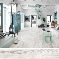 Carrelage imitation parquet VILLAGE BLANCO 15x90 cm - 1.08m²