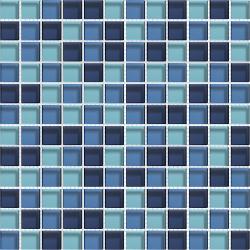 Mosaique bleue Glasmosaik blaumix 2.3x2.3 cm - 30x30 - unité Barwolf