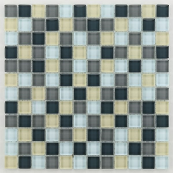 Glasmosaik silver grey mix 2.3x2.3 cm - 30x30 - unité Barwolf