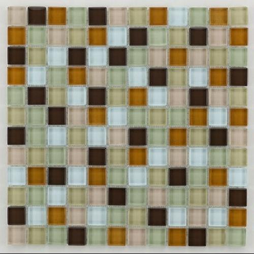 Mosaique salle de bain Glasmosaik beige 2.3x2.3 cm - 30x30 - unité Barwolf