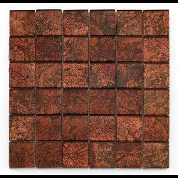 Mosaique salle de bain Glasmosaik rouge 4.8x4.8 cm - 30x30 - unité Barwolf