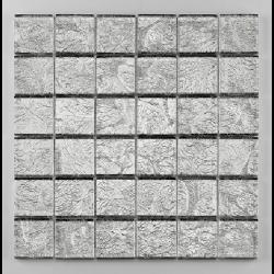 Mosaique salle de bain Glasmosaik argent 4.8x4.8 cm - 30x30 - unité Barwolf
