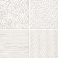 Carrelage style ciment faience précieuse effet metal GLINT BLANCO 44x44 cm - 1.37m² Realonda