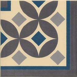 Carrelage imitation ciment 20x20 cm GUELL-3 ANGLE - 1 unité Vives Azulejos y Gres
