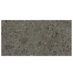 Carrelage anthracite imitation pierre 80x160cm HANNOVER BLACK NATURAL R10 - 1.28m² Baldocer