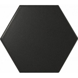 Faience SCALE HEXAGON BLACK MATT 21909 12.4x10.7cm - 0.61m²