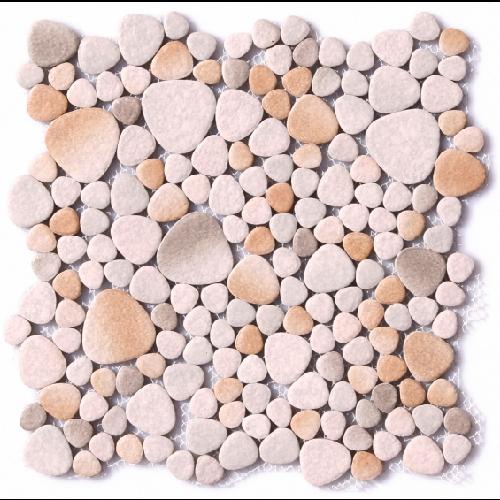 Mosaique émaillée beige gris 30x30 cm - 0.74m² - zoom