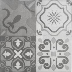Carrelage ciment décoré LORD GREY 45x45 cm - 1.42m²