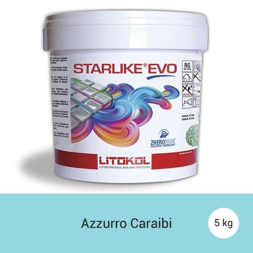 Litokol Starlike EVO Azzurro Caraibi C.320 Mortier époxy - 5 kg - zoom
