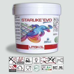 Litokol Starlike EVO Bianco Ghiaccio C.102 Mortier époxy - 5 kg Litokol