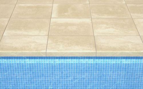 Margelle droite plate 50x35x6 cm sable TESSERA BASIQUE - unité - zoom
