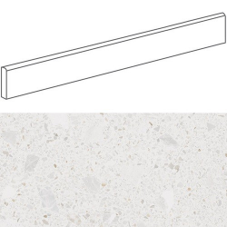 Plinthe style terrazzo granité blanc 9.4x80 cm MISCELA-R Nacar - 12ml Arcana