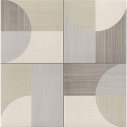 Carrelage pop art deco taupe MOON BEIGE 44x44 cm - 1.37m²