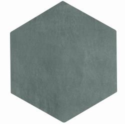 Carrelage tomette gris bleu 22.5x26cm CONCRET PARIS - 0.66m²