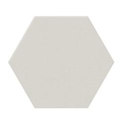 Carrelage tomette design unie Blanc cassé FARINA 15x17cm NEW PANAL - 0.5m²