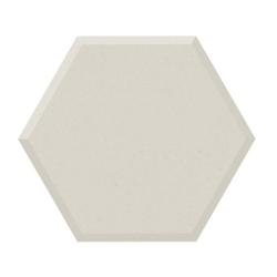 Carrelage tomette design unie Blanc cassé FARINA BISEAUTÉ 15x17cm NEW PANAL - 0.5m²