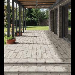 Carrelage RETRO imitation parquet vintage style chevron Point de Hongrie 21x60 cm - 1m² Natucer