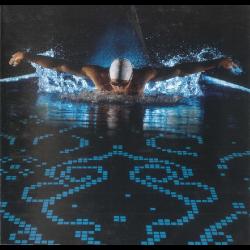 Mosaique piscine bleu phosphorescent 4502 31.6x31.6 cm - 1m² AlttoGlass