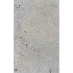 Carrelage pierre naturelle TRAVERTIN SILVER gris 40x60 cm 1er choix EP.30MM -0.99m² Nd