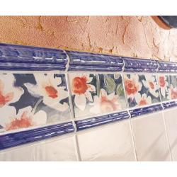 Frise bleue Ontigola Marino 2.5x20 cm - unité Vives Azulejos y Gres